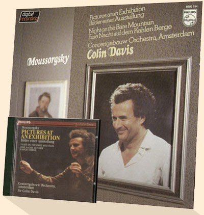 Sir Colin Davis on CD and LP with Mussorgsky