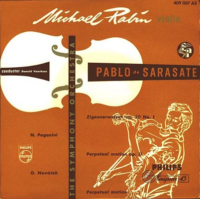 Michael Rabin on Philips 409 007 AE.