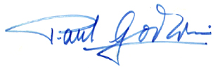 This signature is taken from a record cover which was signed by Paul Godwin after a perfoemance.