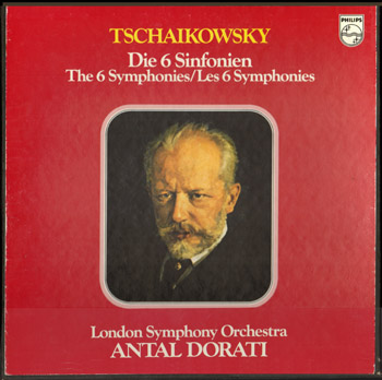 Antal Dorati 6 LP box set Complete Symphonies of Tchaikovsky PHILIPS 6747-195.