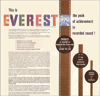 Everest comparison  of quarter inch tape and 1/2 inch tape to 35 mm chord.