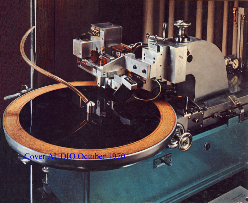 Scully lathe on the cover of Audio Magazine, October 1970